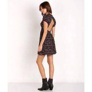 Free People Pretty Baby Mini Dress, black,size S